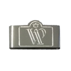 VIP belt keeper in silver plate by Devanet
