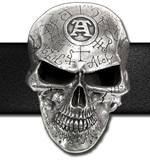 Alchemy belt buckle B69  Omega Skull