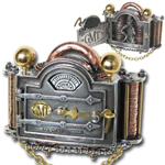 Alchemy belt buckle B84 Rosenteins Galvanic matter transpositor