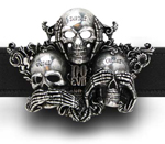 Alchemy belt buckle B88 No Evil
