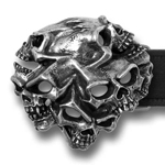 Alchemy belt buckle B94 Gestalt Skull