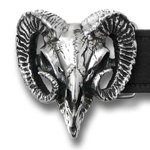 Alchemy belt buckle B95 Ram's Skull