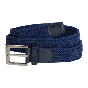 Navy Braided belt with pin buckle