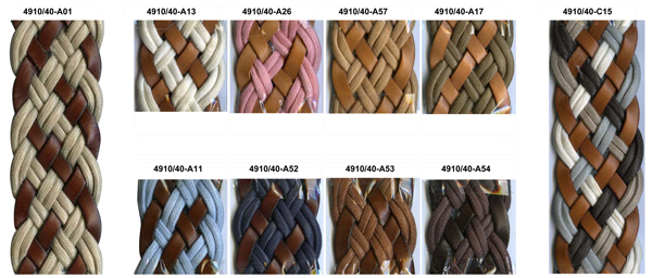 Series 4910 Braided Web leather