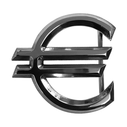 Euro Belt Buckle - SIlver finish