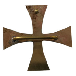 Brazing back of Templars cross buckle