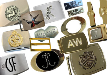 Branded buckle components by Devanet
