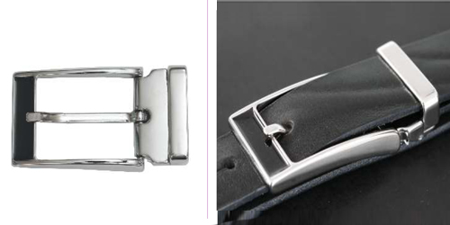 DV11661-30 Nickel buckle with recessed tip and keeper