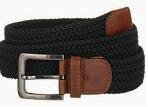 Braided web leather belt by devanet