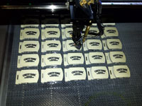 devanet laser engraved array of  belt buckles
