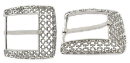 DVA3344-40 mm Created with Swarovksi fine crystale elements in 925 sterling silver buckle
