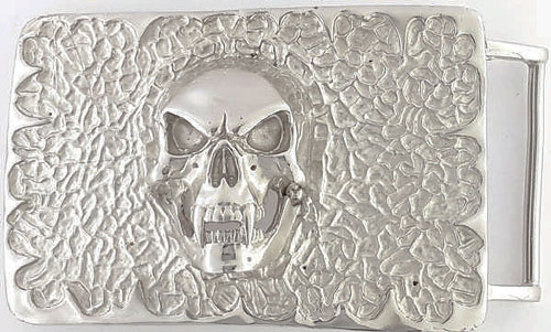 DVA3348-40 mm Skull design 925 sterling silver plate buckle
