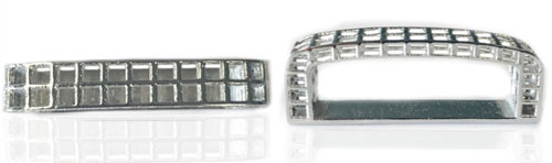 DVAG157-35 Keeper 3D structured 925 sterling silver