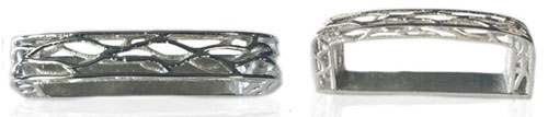 DVAG0159-30 & 35 mm Keeper 3D strructured sterling silver