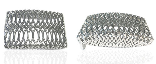 DVAG003-30mm 3D Structured 925 sterling silver belt buckle
