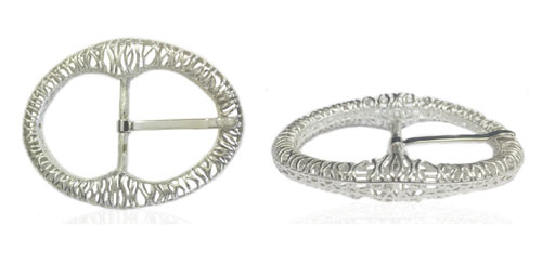 DVAG0037-35 3D Structured 925 sterling silver belt buckle