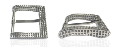 DVAG0045-35 3D structured 925 sterling silver belt buckles