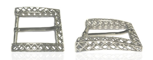 DVAG0048-35 3D structured 925 sterling silver belt buckle