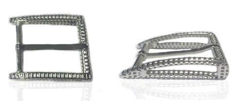 DVAG0049-35 3D structured 925 sterling silver belt buckle
