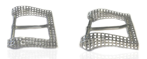 DVAG0050-35 3D structured 925 sterling siolver belt buckles