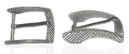 DVAG0051-35 3D structured 925 sterling silver belt buckle