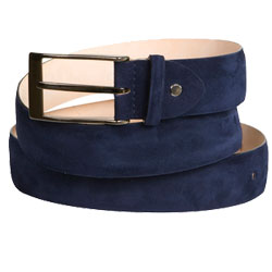 Suede Belt Navy