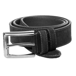 Suede belt dark grey