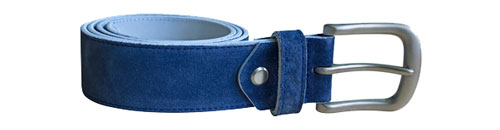 Suede Belt Blue 35 mm