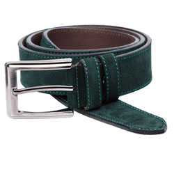 Suede Belt Green 35 mm
