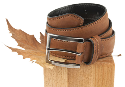 Suede belt Brown