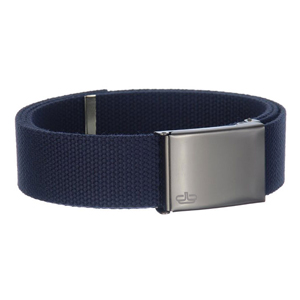 Navy Web belt with clamshell buckle