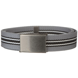 Canvas web belt with stripes