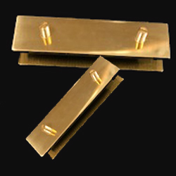Brass end tips for ladies coat belt