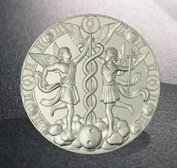 Zodiac milled buckle