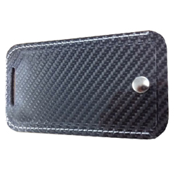 Carbon Fibre luggage tag