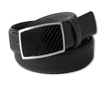 Carbon Fibre insert buckle and leather belt