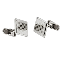 Checkered Sterling silver cufflinks