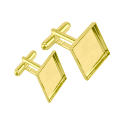 Gold plated cufflinks 17 x 17 mm