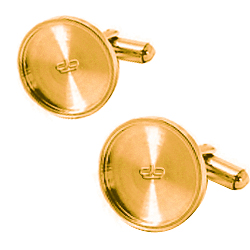 Gold sublimation cufflinks