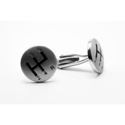 Personalised cufflinks with satined silver finish