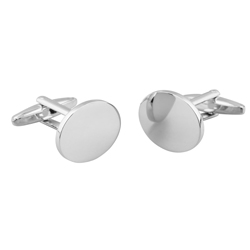 Rhodium Plated Cufflinks 20 x 16 x 2.3 mm