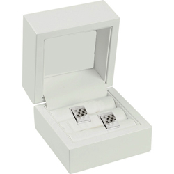 White wooden cufflink box