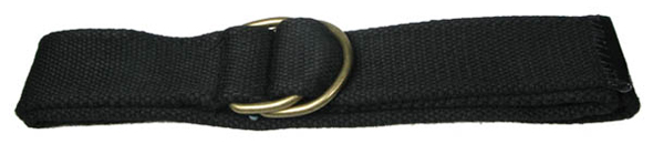Devanet  D ring belt with brass D ings and leather end tip