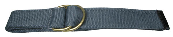 Devanet D ring belt 5070  40 with brass D rings and leather end tip