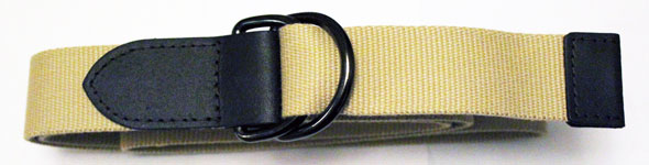 Devanet D ring 5735-35 with leather tabs