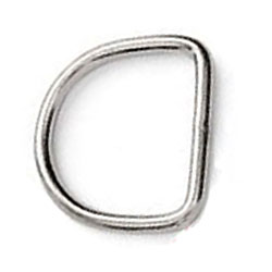 Polished Nickel D ring