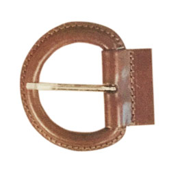 Leather covered D ring buckle