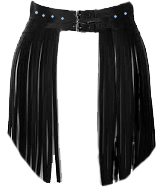 leather fringe belt