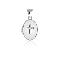 Cross embossed locket