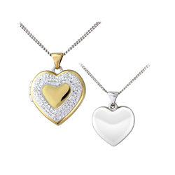 Crystal heart locket 109 crystals